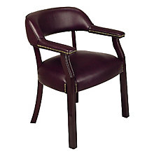 Traditional Vinyl Guest Chair, OFF-TEX230-4