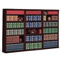 "Huntington Club 18 Shelf Library Wall Unit - 72"" H, OFG-BC1045"