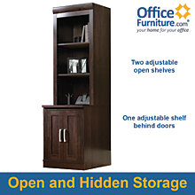 Office Port Dark Alder Vertical Storage Tower, OFG-CH0026