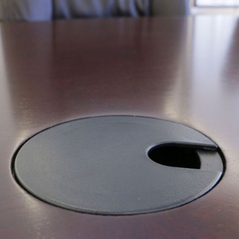 Grommet hole on table top