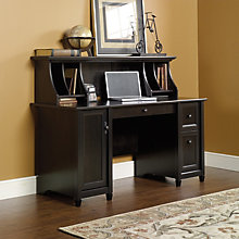 Edge Water Computer Desk with Hutch, OFG-DH0027