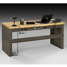 Heavy-Duty Steel Desk - Wood Top, OFG-DS0048