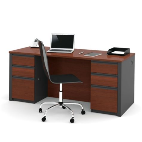 Desk shown in Bordeaux Cherry