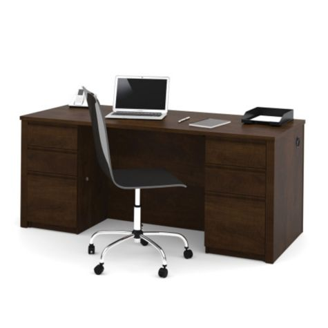 Desk shown in chocolate
