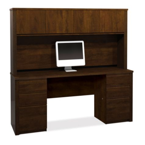 Credenza and hutch in chocolate