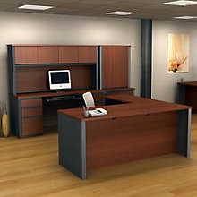 Prestige Plus Executive L-Desk with Credenza, OFG-EX1022
