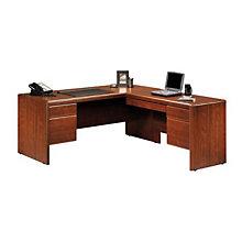 Cornerstone Reversible L-Desk with Laptop Drawer, OFG-LD0001
