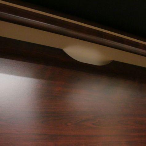 Wire Management Grommet Under Overhang of Desk