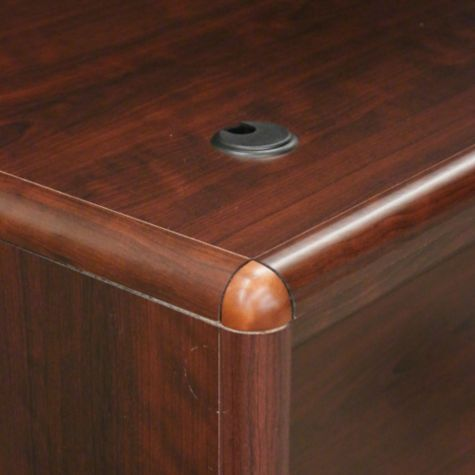 Wire Management  Grommets On Surface Of Desk