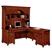 Antigua L-Desk with Right Return and Hutch, OFG-LD0035