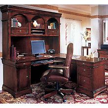 Computer L Desk With Hutch, OFG LD0041
