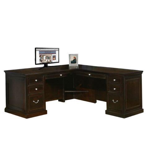 L desk interior