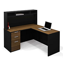 Pro Concept L-Desk with Short Hutch, OFG-LD0100