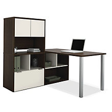 Contempo L-Desk with Storage, OFG-LD0109