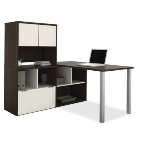 Shown as part of an L-Desk with Storage Hutch