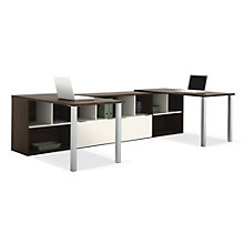 Contempo L-Shape Dual Workstation, OFG-LD0110