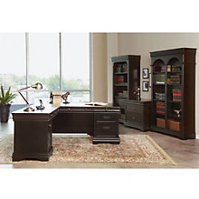 Beaumont L Desk and Bookcase Suite, 8826944
