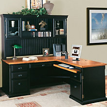 Southampton Onyx L-Desk with Right Return and Hutch, OFG-LD1044