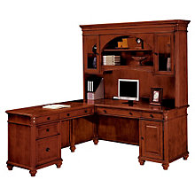 Antigua L-Desk with Left Return and Hutch, OFG-LD1124
