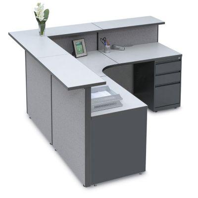 Pewter Haze Large Reception L Desk, OFG LD1147