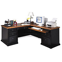 Southampton Onyx L-Desk with Right Return, OFG-LD1163