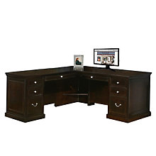 "Fulton Espresso Executive L-Desk Left or Right Return - 68""W, 8826793"