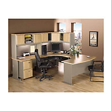 Series A Corner U-Workstation Set with Two Drawer Pedestal, BUS-10139