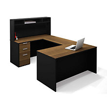 Pro Concept U-Desk with Short Hutch, OFG-UD0065