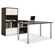 Contempo U-Desk with Storage, OFG-UD0070