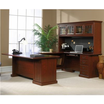 Heritage Hill Executive U Desk With Hutch, OFG UD1037