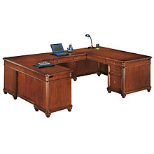 Antigua Executive U-Desk with Left Bridge, OFG-UD1074