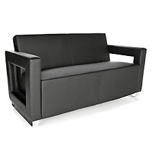 Distinct Modern Reception Sofa in Faux Leather, OFM-10564