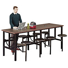Endure Standing Height Table with Eight Swivel Seats , 8827793