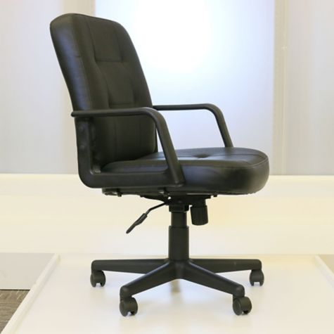 Seat adjusted at lowest height