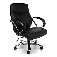 Avenger Big and Tall Bonded Leather Mid Back Chair, 8810599
