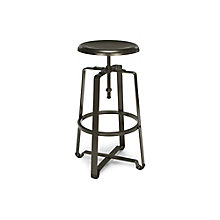 Adjustable Height Tall Stool with Metal Seat, 8810124