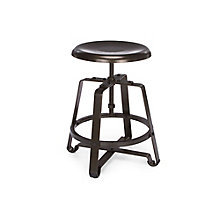 Adjustable Height Short Stool with Metal Seat, 8810122