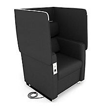 Morph Flip Up Privacy Panel Chair in Faux Leather, 8803893