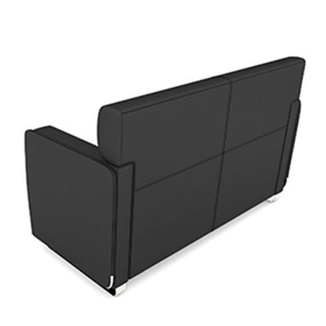 Back of sofa shown with flip arms down