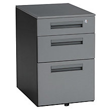 Three Drawer Mobile File Pedestal, OFM-66300