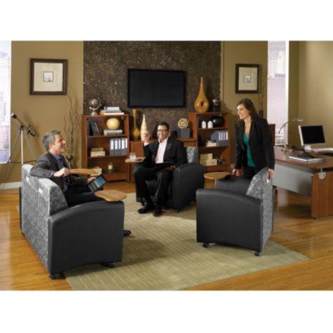 Sofa works great for impromptu meetings