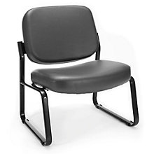 Big and Tall Armless Guest Chair in Vinyl, 8807842