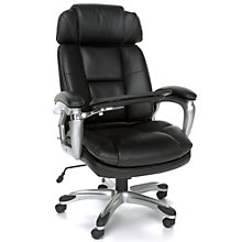Tablet Arm Chair with Headrest in Bonded Leather, 8801283