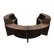 "Marque Curved Four Piece ADA Reception Station - 128""W x 104""D, 8801390"