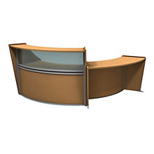 "Marque Curved Two Piece ADA Reception Set with Plexi - 116""W x 49""D, 8801395"
