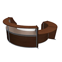 "Marque Curved Four Piece ADA Reception Set with Plexi - 139""W x 119""D, 8801396"