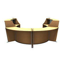 "Marque Curved Four Piece ADA Reception Station with Plexi - 128""W x 104""D, 8801398"