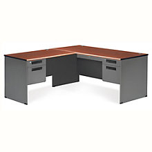 "Panel Left L-Desk with Pedestals - 67""W x 71.5""D, 8802092"