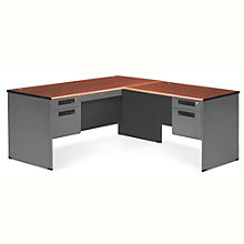 "Panel Right L-Desk with Pedestals - 67""W x 71.5""D, 8802093"