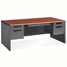 "Executive Panel Desk with Pedestal - 72""W x 36.25""D, 8802094"